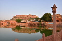 Majestic Mehrangarh Fort located in Jodhpur, Rajasthan, is one of the largest forts in India. Built around 1460 by Rao Jodha (Mandore Ruler King Royalty Free Stock Photos