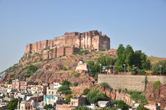 Majestic Mehrangarh Fort located in Jodhpur, Rajasthan, is one of the largest forts in India. Stock Photography