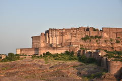 Majestic Mehrangarh Fort located in Jodhpur, Rajasthan, is one of the largest forts in India. Stock Image
