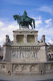 Majestic monument to King of Hungary. Royalty Free Stock Photography