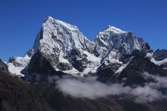 Majestic mount Cholatse Royalty Free Stock Photo