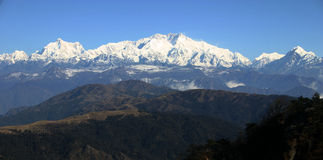 Majestic Mount Kangchenjunga, Himalayans Stock Photos