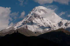 Majestic Mount Kazbek  - the landmark of Georgia Royalty Free Stock Photography