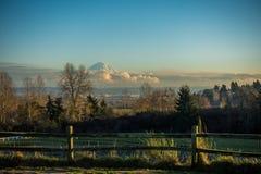 Majestic Mount Rainier Stock Image