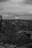 Majestic Mount Seen From A Neighborhood 2 Stock Photography