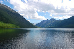 Majestic mountain lake Stock Images