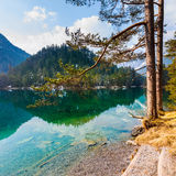 Majestic mountain lake in Fernsteinsee Royalty Free Stock Images