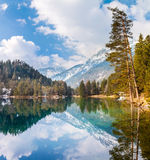 Majestic mountain lake in Fernsteinsee Stock Photography