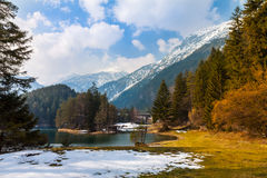 Majestic mountain lake in Fernsteinsee Royalty Free Stock Photo