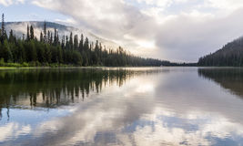 Majestic mountain lake in Manning Park, British Columbia, Canada. Royalty Free Stock Photography