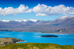 Majestic mountain lake in New Zealand Royalty Free Stock Photo