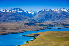Majestic mountain lake in New Zealand Stock Images