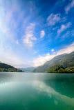 Majestic mountain lake in Switzerland Stock Images
