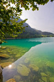 Majestic mountain lake in Switzerland Stock Photo