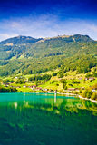Majestic mountain lake in Switzerland Royalty Free Stock Photo