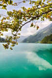 Majestic mountain lake in Switzerland Stock Photos
