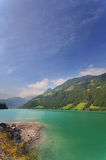 Majestic mountain lake in Switzerland Royalty Free Stock Image