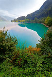 Majestic mountain lake in Switzerland Stock Photography
