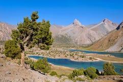 Majestic mountain lake in Tajikistan Royalty Free Stock Photos