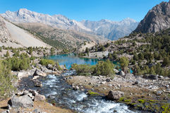 Majestic mountain lake in Tajikistan Stock Image
