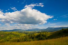 Majestic Mountain Landscape in Carpathians Royalty Free Stock Photo