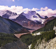 Majestic mountain landscape and glaciers Stock Photo