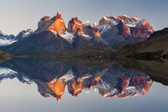 Majestic mountain landscape. Reflection of mountains Royalty Free Stock Images