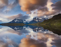 Majestic mountain landscape. Reflection of mountains Stock Photo