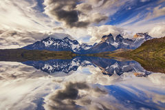 Majestic mountain landscape. Reflection of mountains Royalty Free Stock Photos