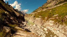 Majestic mountain landscape scenery peaceful nature background stock video footage