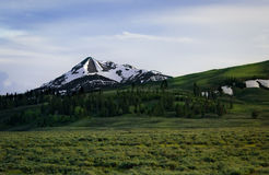 Majestic Mountain. A majestic mountain peak royalty free stock image