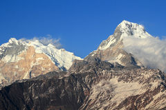 Majestic mountain peak in himalaya Stock Photography