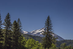 Majestic mountain peak at Paonia State Park, Colorado Royalty Free Stock Photography