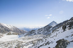 The majestic mountain peaks of the Eastern Sayan mountains. Stock Images