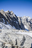 The majestic mountain peaks of the Eastern Sayan mountains. Royalty Free Stock Image