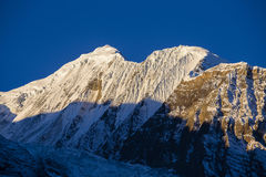 Majestic mountain peaks in Himalayas mountains in Nepal Royalty Free Stock Photography