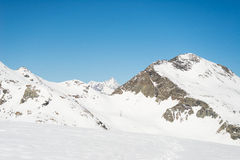 Majestic mountain peaks in winter in the Alps Stock Image