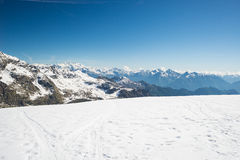 Majestic mountain peaks in winter in the Alps Stock Images