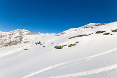 Majestic mountain peaks in winter in the Alps Royalty Free Stock Photo