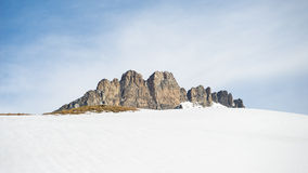 Majestic mountain peaks in winter in the Alps Royalty Free Stock Images