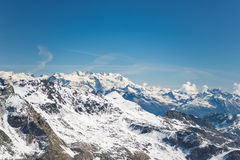 Majestic mountain peaks in winter in the Alps Royalty Free Stock Image