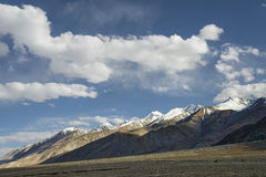 Majestic mountain range view stock photography