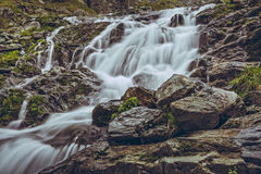 Majestic mountain stream waterfall Royalty Free Stock Photography