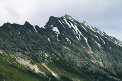 Majestic mountain views from Mount Edith Cavell road Royalty Free Stock Photo