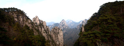 Majestic mountains. The mount hangshan is famous scenes in china Stock Photo