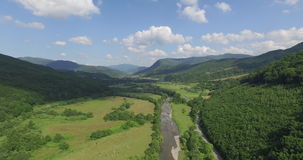Majestic mountains in 4K (Aerial) stock footage