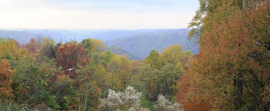 Majestic mountains. Panorama of the mountains in full color Royalty Free Stock Photo