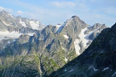 Majestic mountains, peak Royalty Free Stock Photos