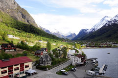 Majestic Mountains and Valley Landscape, Norway Royalty Free Stock Images