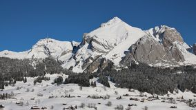 Majestic Mt Saentis in winter Royalty Free Stock Images